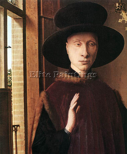 JAN VAN EYCK PORTRAIT OF GIOVANNI ARNOLFINI AND HIS WIFE DETAIL 1 ARTIST CANVAS