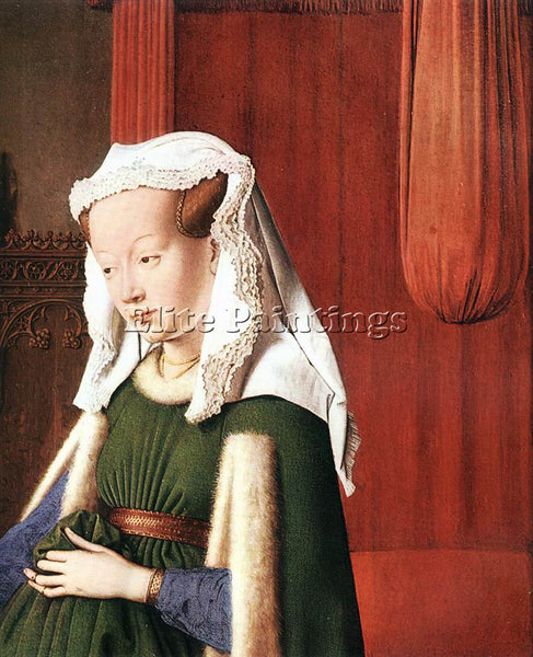 JAN VAN EYCK PORTRAIT OF GIOVANNI ARNOLFINI AND HIS WIFE DETAIL 2 ARTIST CANVAS
