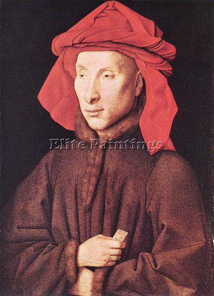 JAN VAN EYCK PORTRAIT OF GIOVANNI ARNOLFINI ARTIST PAINTING HANDMADE OIL CANVAS