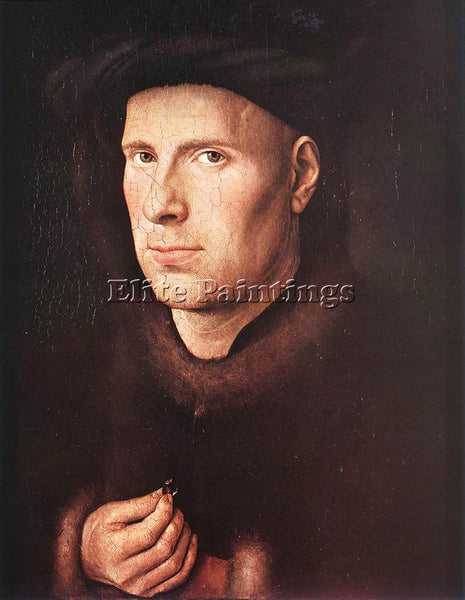 JAN VAN EYCK PORTRAIT JAN DE LEEUW ARTIST PAINTING REPRODUCTION HANDMADE OIL ART