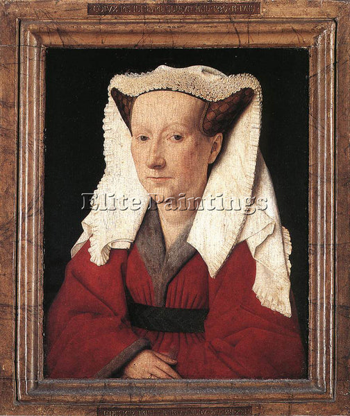 JAN VAN EYCK PORTRAIT MARGARETA VAN EYCK ARTIST PAINTING REPRODUCTION HANDMADE