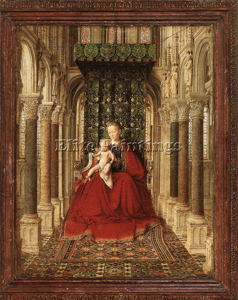JAN VAN EYCK SMALL TRIPTYCH CENTRAL PANEL ARTIST PAINTING REPRODUCTION HANDMADE