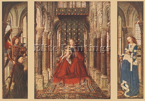 JAN VAN EYCK SMALL TRIPTYCH 1 ARTIST PAINTING REPRODUCTION HANDMADE CANVAS REPRO