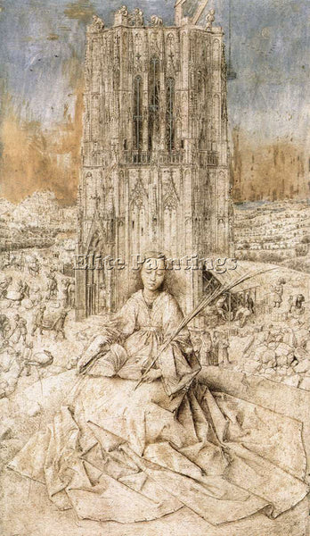 JAN VAN EYCK ST BARBARA 1 ARTIST PAINTING REPRODUCTION HANDMADE OIL CANVAS REPRO