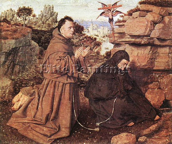 JAN VAN EYCK STIGMATIZATION ST FRANCIS ARTIST PAINTING REPRODUCTION HANDMADE OIL