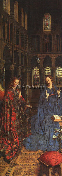 JAN VAN EYCK THE ANNUNCIATION C1435 ARTIST PAINTING REPRODUCTION HANDMADE OIL