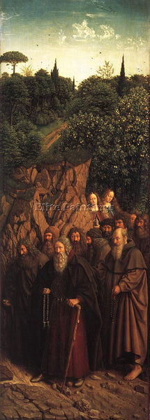 JAN VAN EYCK THE GHENT ALTARPIECE ADORATION LAMB THE HOLY HERMITS ARTIST CANVAS