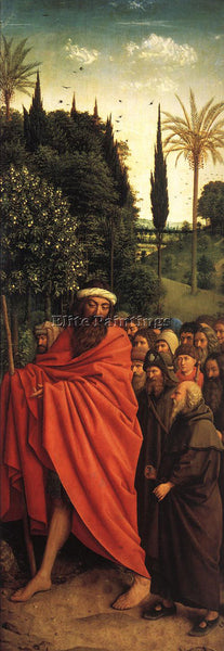 JAN VAN EYCK THE GHENT ALTARPIECE ADORATION LAMB THE HOLY PILGRIMS REPRODUCTION