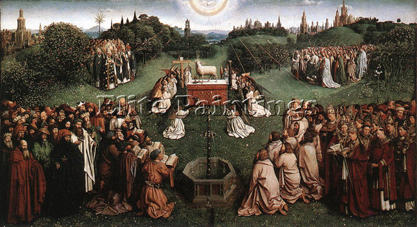 JAN VAN EYCK GHENT ALTARPIECE ADORATION OF LAMB ARTIST PAINTING REPRODUCTION OIL