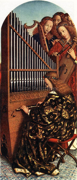 JAN VAN EYCK GHENT ALTARPIECE ANGELS PLAYING MUSIC ARTIST PAINTING REPRODUCTION