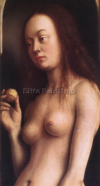 JAN VAN EYCK GHENT ALTARPIECE EVE DETAIL 2 ARTIST PAINTING REPRODUCTION HANDMADE