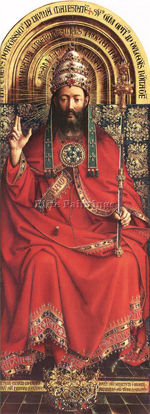 JAN VAN EYCK GHENT ALTARPIECE GOD ALMIGHTY ARTIST PAINTING REPRODUCTION HANDMADE