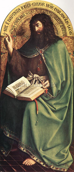 JAN VAN EYCK GHENT ALTARPIECE ST JOHN BAPTIST ARTIST PAINTING REPRODUCTION OIL