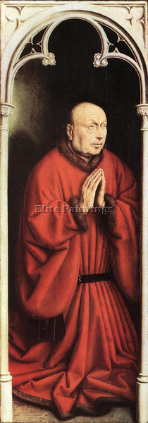 JAN VAN EYCK THE GHENT ALTARPIECE THE DONOR ARTIST PAINTING HANDMADE OIL CANVAS