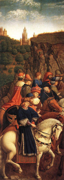 JAN VAN EYCK GHENT ALTARPIECE JUST JUDGES ARTIST PAINTING REPRODUCTION HANDMADE