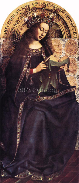 JAN VAN EYCK GHENT ALTARPIECE VIRGIN MARY ARTIST PAINTING REPRODUCTION HANDMADE