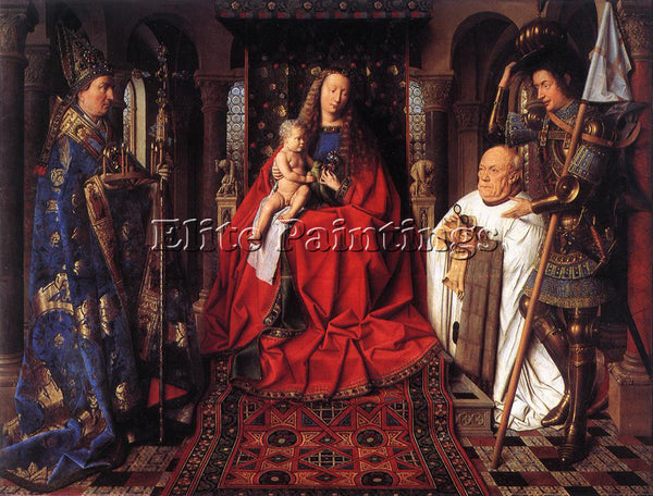 JAN VAN EYCK THE MADONNA WITH CANON VAN DER PAELE ARTIST PAINTING REPRODUCTION