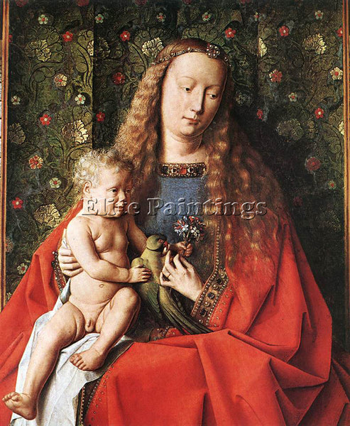 JAN VAN EYCK THE MADONNA WITH CANON VAN DER PAELE DETAIL 2 ARTIST PAINTING REPRO