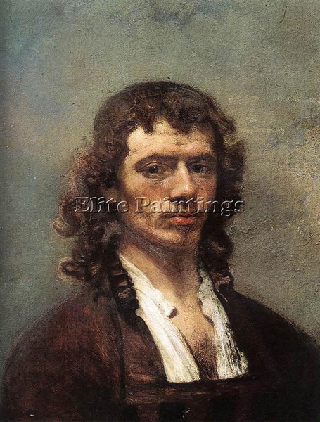 CARE FABRITIUS SELF PORTRAIT 1645 ARTIST PAINTING REPRODUCTION HANDMADE OIL DECO