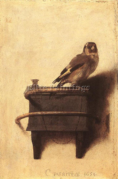 CARE FABRITIUS THE GOLDFINCH ARTIST PAINTING REPRODUCTION HANDMADE CANVAS REPRO