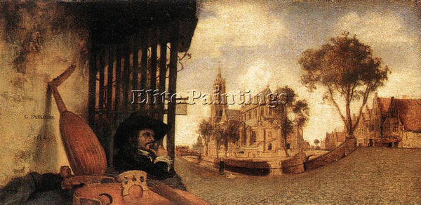 CARE FABRITIUS VIEW OF THE CITY OF DELFT ARTIST PAINTING REPRODUCTION HANDMADE