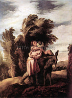 DOMENICO FETI PARABLE OF THE GOOD SAMARITAN ARTIST PAINTING HANDMADE OIL CANVAS