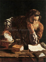 DOMENICO FETI PORTRAIT OF A SCHOLAR ARTIST PAINTING REPRODUCTION HANDMADE OIL
