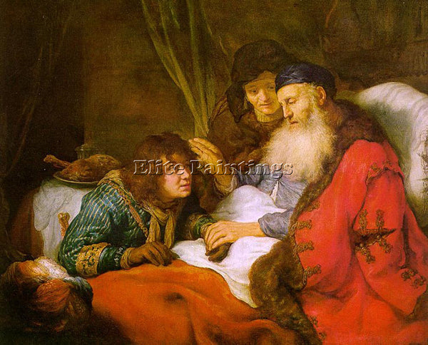 GOVERT TEUNISZ FLINCK ISAAC BLESSING JACOB ARTIST PAINTING REPRODUCTION HANDMADE