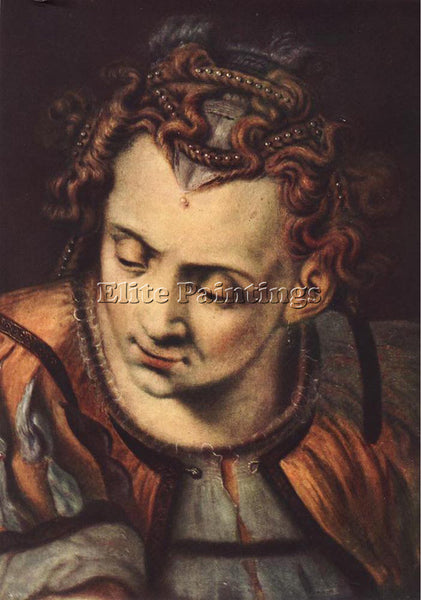 BELGIAN FLORIS FRANS HEAD OF A WOMAN ARTIST PAINTING REPRODUCTION HANDMADE OIL