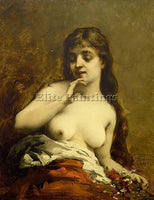 FRENCH FOUACE GUILLAUME ROMAIN FEMALE NUDE ARTIST PAINTING REPRODUCTION HANDMADE