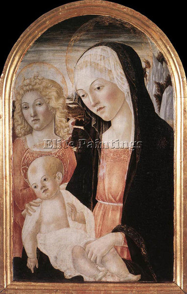 FRANCESCO DI GIORGIO MARTINI MADONNA AND CHILD WITH AN ANGEL ARTIST PAINTING OIL