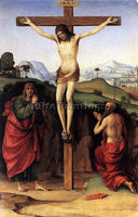 FRANCESCO FRANCIA CRUCIFIXION WITH STS JOHN AND JEROME 1485 ARTIST PAINTING OIL