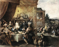 FRANS THE YOUNGER FRANCKEN  II FEAST OF ESTHER ARTIST PAINTING REPRODUCTION OIL
