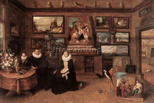 FRANS THE YOUNGER FRANCKEN  II SEBASTIAAN LEERSE IN HIS GALLERY ARTIST PAINTING