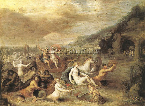 FRANS THE YOUNGER FRANCKEN  II TRIUMPH OF AMPHRITE ARTIST PAINTING REPRODUCTION