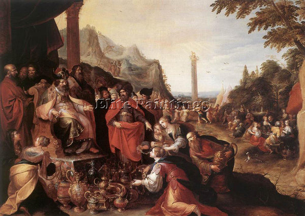 FRANS THE YOUNGER FRANCKEN  II WORSHIP OF THE GOLDEN CALF ARTIST PAINTING CANVAS