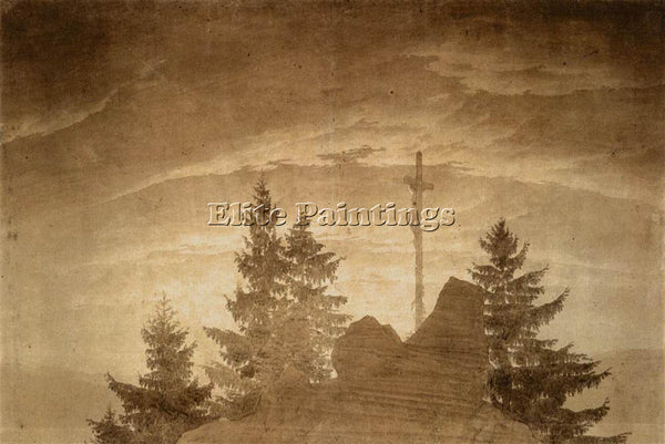 CASPAR DAVID FRIEDRICH CROSS IN THE MOUNTAINS ARTIST PAINTING REPRODUCTION OIL