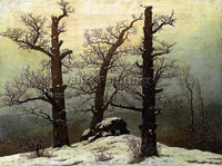 CASPAR DAVID FRIEDRICH DOLMEN IN THE SNOW ARTIST PAINTING REPRODUCTION HANDMADE