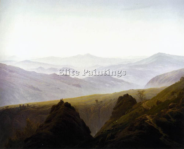 CASPAR DAVID FRIEDRICH MORNING IN THE MOUNTAINS ARTIST PAINTING REPRODUCTION OIL