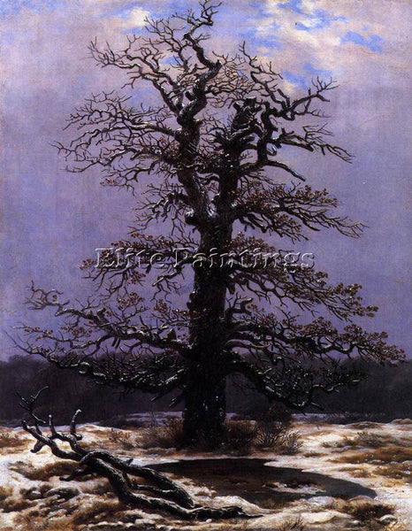 CASPAR DAVID FRIEDRICH OAK IN THE SNOW ARTIST PAINTING REPRODUCTION HANDMADE OIL