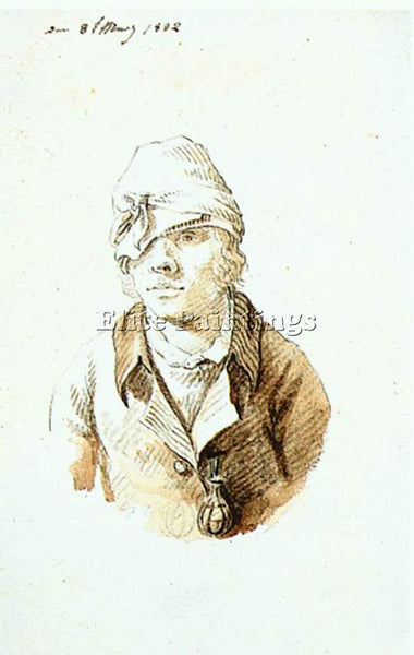 CASPAR DAVID FRIEDRICH SELF PORTRAIT WITH CAP AND SIGHTING EYE SHIELD ARTIST OIL