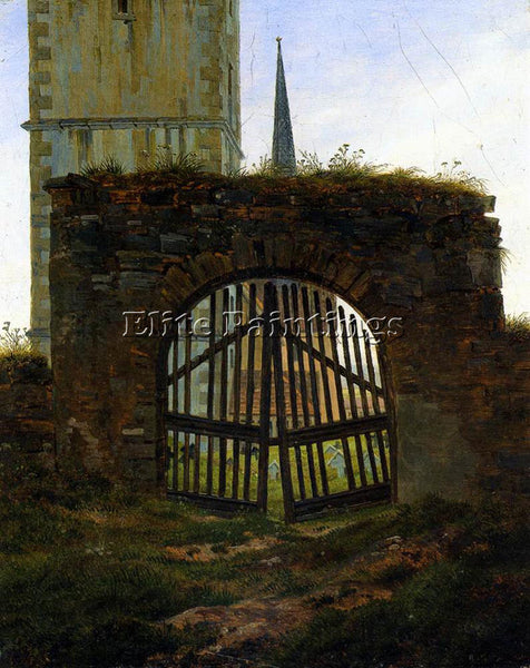 CASPAR DAVID FRIEDRICH THE CEMETERY GATE ARTIST PAINTING REPRODUCTION HANDMADE