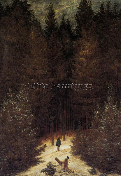 CASPAR DAVID FRIEDRICH THE CHASSEAUR IN THE FOREST ARTIST PAINTING REPRODUCTION