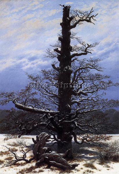 CASPAR DAVID FRIEDRICH THE OAKTREE IN THE SNOW ARTIST PAINTING REPRODUCTION OIL