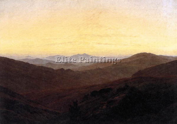 CASPAR DAVID FRIEDRICH THE RIESENGEBIRGE ARTIST PAINTING REPRODUCTION HANDMADE