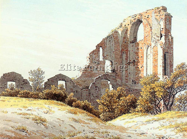 CASPAR DAVID FRIEDRICH THE RUINS OF ELDENA ARTIST PAINTING REPRODUCTION HANDMADE