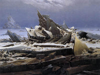 CASPAR DAVID FRIEDRICH THE SEA OF ICE ARTIST PAINTING REPRODUCTION HANDMADE OIL