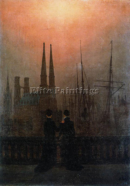 CASPAR DAVID FRIEDRICH THE SISTERS ON THE BALCONY ARTIST PAINTING REPRODUCTION