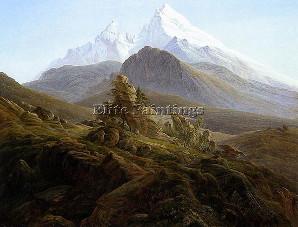 CASPAR DAVID FRIEDRICH THE WATZMANN ARTIST PAINTING REPRODUCTION HANDMADE OIL