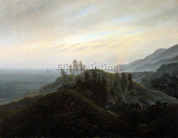 CASPAR DAVID FRIEDRICH VIEW OF THE BALTIC ARTIST PAINTING REPRODUCTION HANDMADE